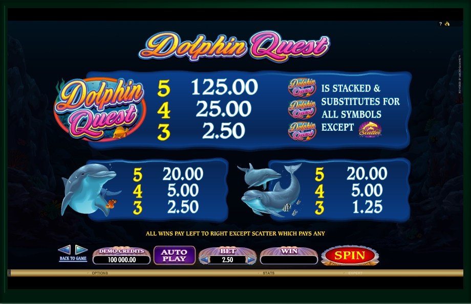 2 скриншот автомата онлайн Dolphin Quest Slot