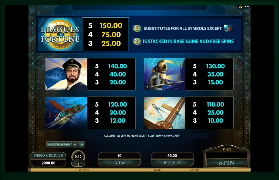 3 скриншот автомата онлайн Leagues of Fortune Slot