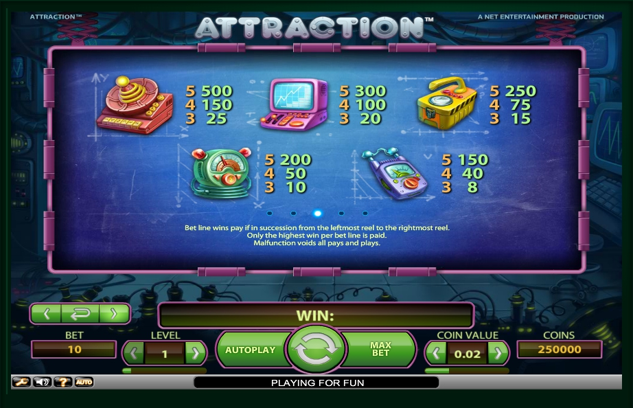 3 скриншот автомата онлайн Attraction Slot