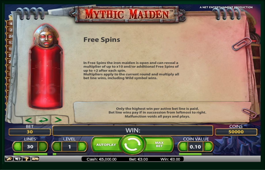 2 скриншот автомата онлайн Mythic Maiden Slot