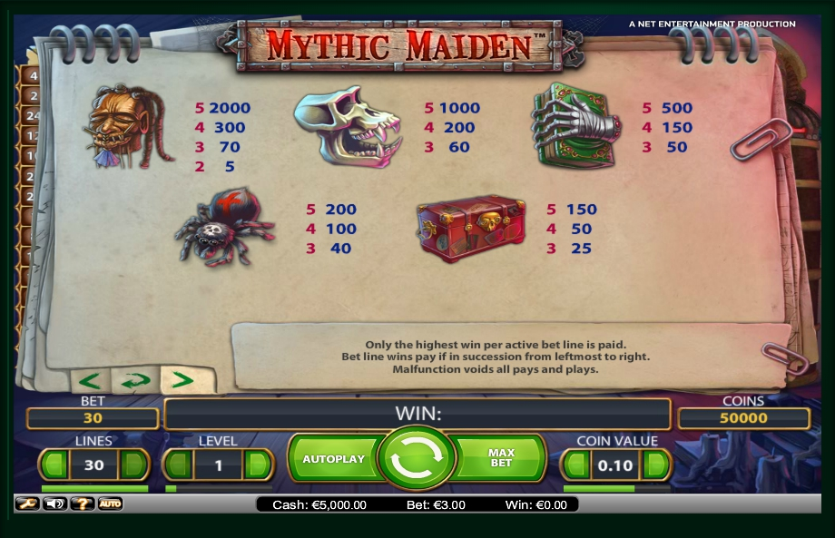 3 скриншот автомата онлайн Mythic Maiden Slot