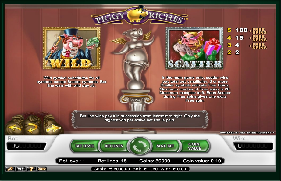 1 скриншот автомата онлайн Piggy Riches Slot