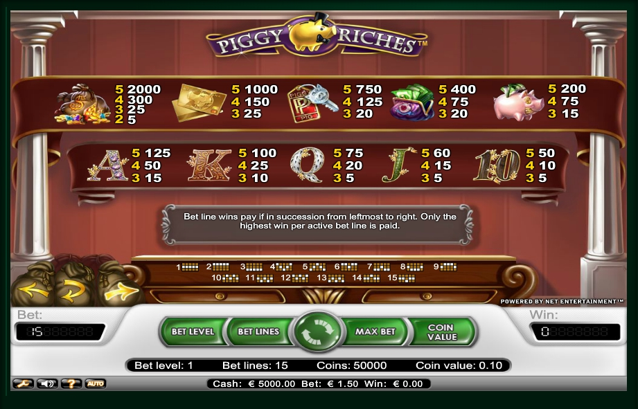 2 скриншот автомата онлайн Piggy Riches Slot