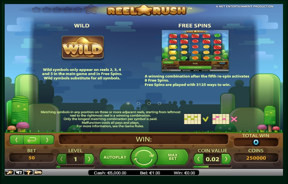 1 скриншот автомата онлайн Reel Rush Slot