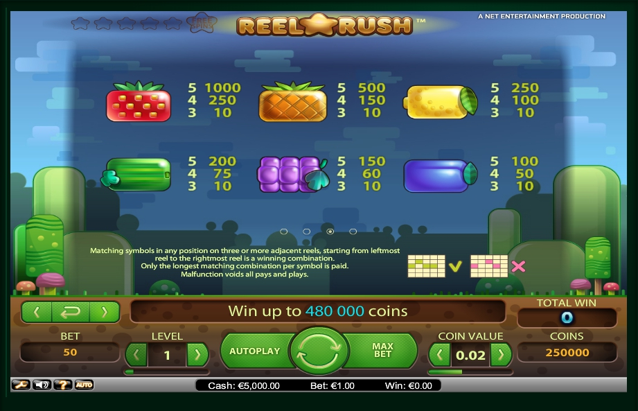 3 скриншот автомата онлайн Reel Rush Slot