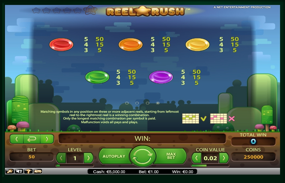 4 скриншот автомата онлайн Reel Rush Slot