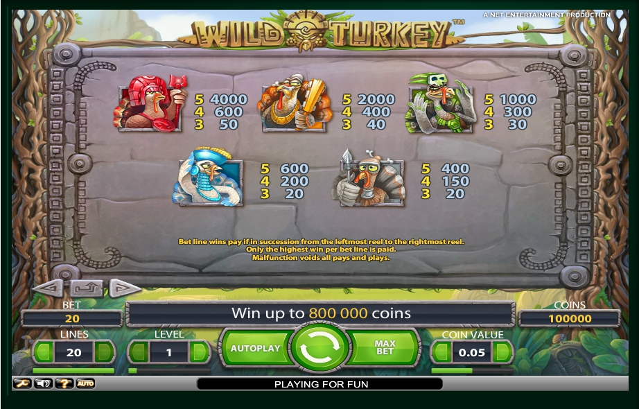 2 скриншот автомата онлайн Wild Turkey Slot