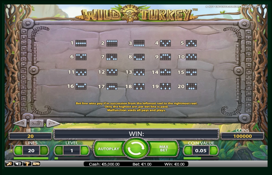 4 скриншот автомата онлайн Wild Turkey Slot