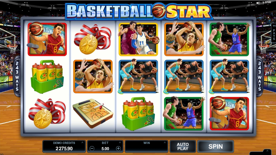 логотип автомата онлайн Basketball Star Slot
