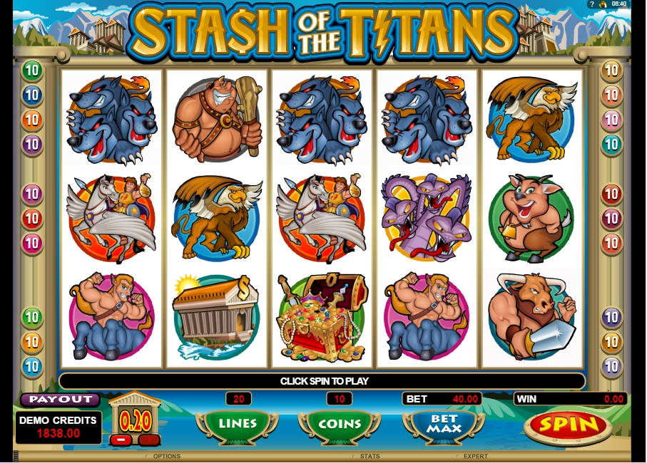 логотип автомата онлайн Stash of the Titans Slot