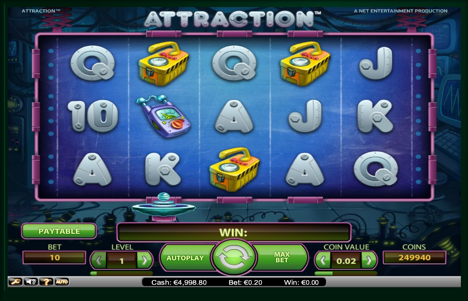 логотип автомата онлайн Attraction Slot