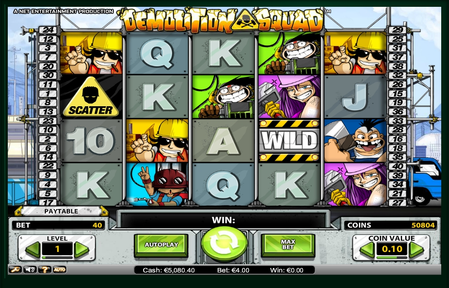 логотип автомата онлайн Demolition Squad Slot
