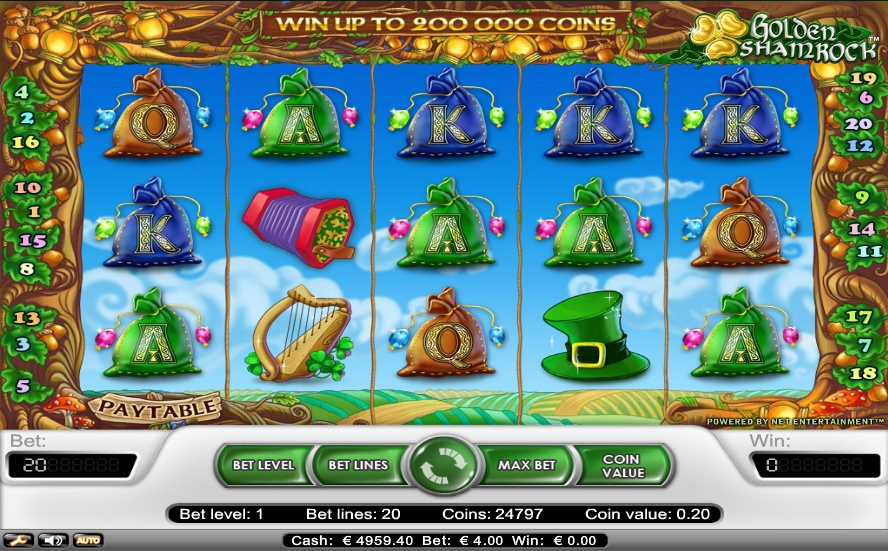 логотип автомата онлайн Golden Shamrock Slot