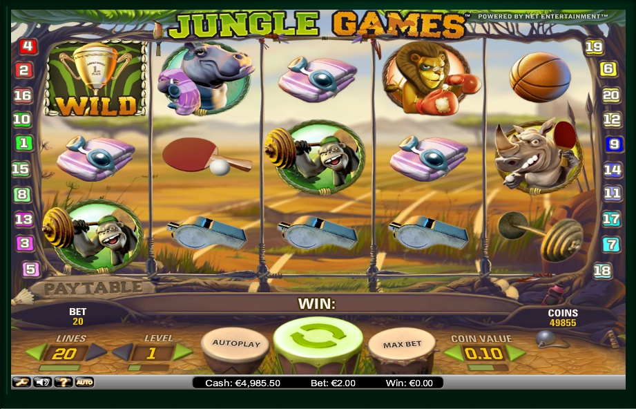 логотип автомата онлайн Jungle Games Slot