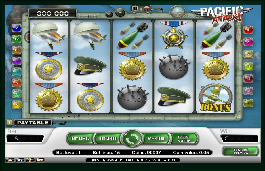 логотип автомата онлайн Pacific Attack Slot