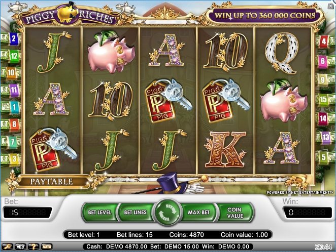 логотип автомата онлайн Piggy Riches Slot