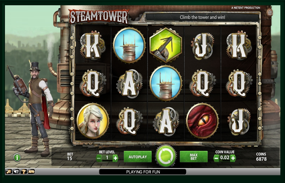 логотип автомата онлайн Steam Tower Slot