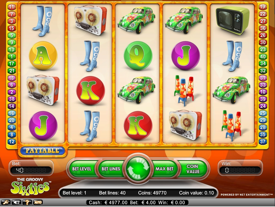 логотип автомата онлайн The Groovy Sixties Slot