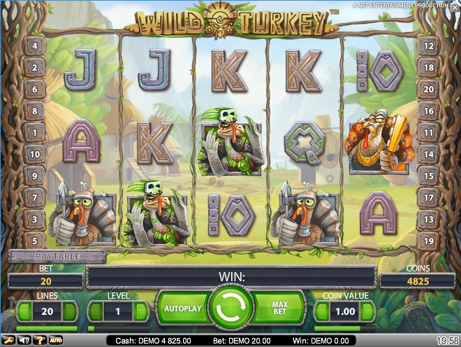 логотип автомата онлайн Wild Turkey Slot