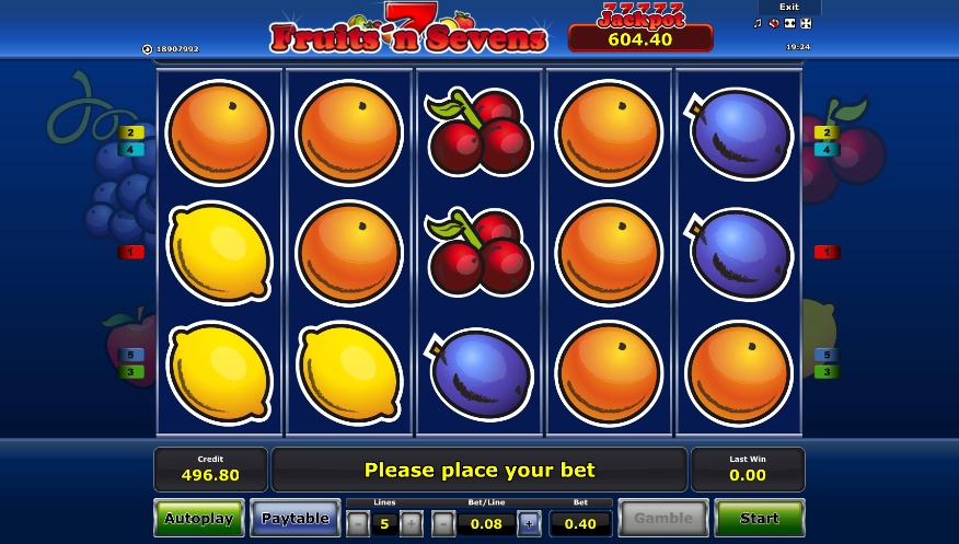логотип автомата онлайн Fruits 'n' Sevens Slot