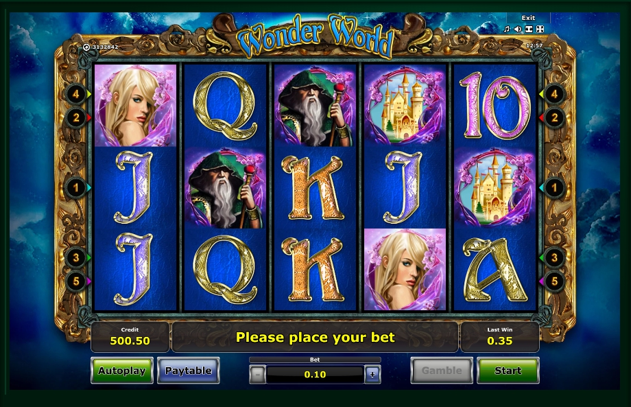 логотип автомата онлайн Wonder World Slot