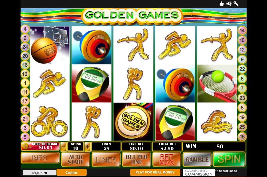 логотип автомата онлайн Golden Games Slot