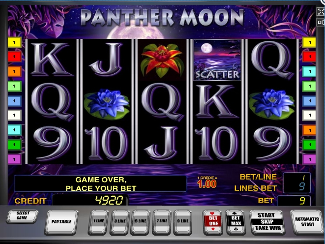 логотип автомата онлайн Panther Moon Slot